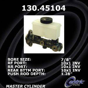 Centric Parts 130.45104 Brake Master Cylinder