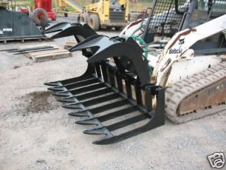 Xtreme 72 Root Grapple Bucket For A Skid Steer Loader Bobcat Case Cat