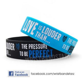 LOVE IS LOUDER THAN PRESSURE PERFECT DEMI LOVATO WRISTBAND BRACELET