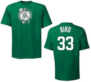 Boston Celtics Larry Bird Green Name and Number Jersey T Shirt