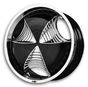 Pelle Black Wheels Rims 5x115 Charger Magnum Challenger STS Impala
