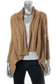 Charter Club NEW Chinchilly Beige Cable Knit Drape Cardigan Sweater