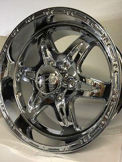 Chrome Raceline Wheels Rims Chevrolet Silverado GMC Sierra 6 Lug 6x5.5