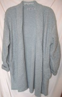 Debbie Morgan * Medium Gray Textured Cardigan / Sweater Coat   Size L