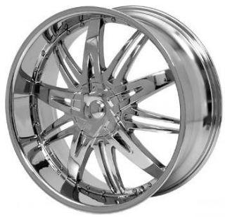 24 inch H7 Chrome wheels rims Chevy Colorado Avalanche
