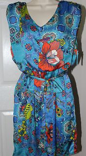 NEW Charming CHARLIE Womens Belted Dress   Multicolor Blue  Small