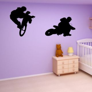 BMX Bike Wall Art Sticker Kids Stickers Vinyl Bedroom Childrens Large