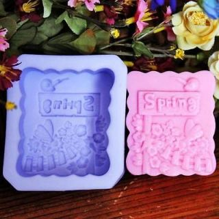 1pcs Season of Spring (R1049) Silicone Handmade Soap Mold Crafts DIY