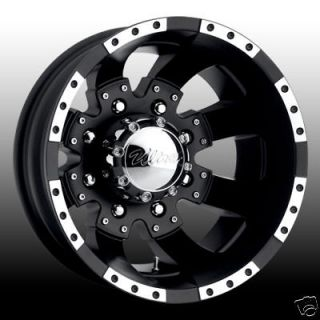 17x6.5 new dually wheels Matte Black and Machined Ford Dodge and Chevy