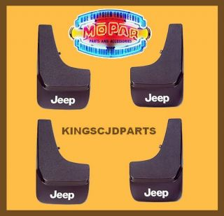 SETS FRONT & REAR 2002 2013 JEEP FLAT MOLDED SPLASH GUARDS MUD FLAPS