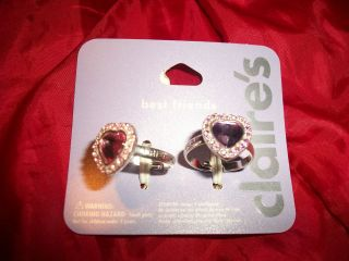 NEW~CLAIRES BEST FRIENDS ADJUSTABLE RING SET OF 2~PURPLE & PINK