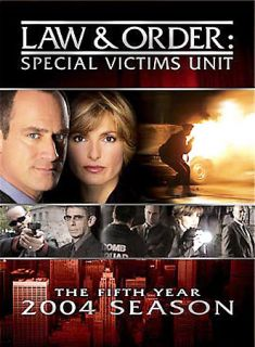 Law Order Special Victims Unit   The Fifth Year DVD, 2004, 4 Disc Set