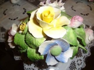 Radnor Staffordshire England HP Hand made Bone China Flowers Bowl