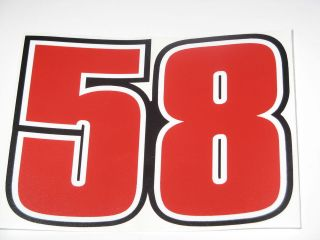 Marco Simoncelli 58 ciao marco bike sticker decal LARGE 15cm x 11cm