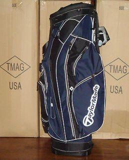 NEW TaylorMade Golf San Clemente Cart Bag Black / White Retail $169