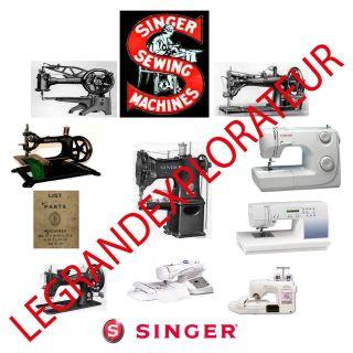 Ultimate Singer sewing machine service, repair and parts manuals