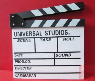 Action Props Flim Movie Scene Clap Clapper Slate Board White 2lJ