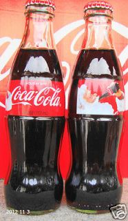 2012 USA Christmas/Holi​day 8 OZ GLASS COCA COLA BOTTLE FULL