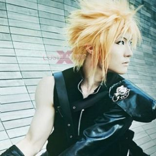 Final Fantasy VII Cloud Strife Short Blonde Anime Cosplay Hair Wig