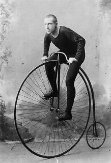 1891 Bicycle antique PHOTO, Bike, for Cycle lovers, 19x13 Giclee