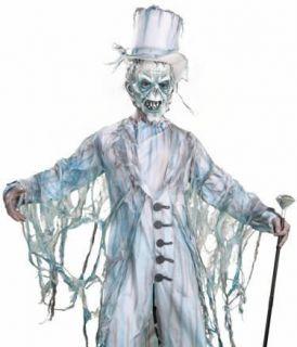 Mens Ghost Groom Gentleman Scary Halloween Costume