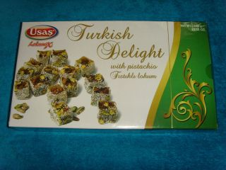 Turkish Delight With Pistachio Coconut Lokum 350gr