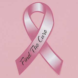 Pink Ribbon Car Magnet 8 Find The Cure Breast Cancer