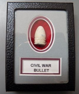 Excavated Dropped Civil War Bullet In A Matted Display Case   Manassas