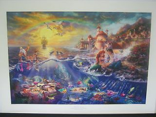 Thomas Kinkade  The Little Mermaid  Signed & Numbered Disney