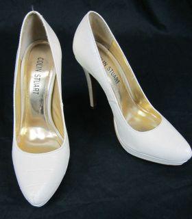 Colin Stuart Leather Heels Stilettos Cream Shoes Victorias Secret