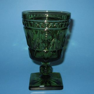 Colony PARK LANE Olive Green Glass Water Goblet (s)