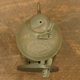 BALDWIN CARBIDE LAMP Brass Miners Light Mining Lamp,1914,John Simmons