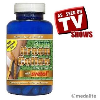 NEW SUPER GREEN COFFEE BEAN EXTRACT W/ SVETOL #1 BEST FAT WEIGHT LOSS