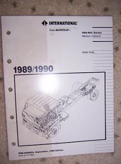 1989 International Truck Data Manual 400 900 Cabover O