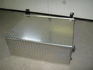 Semi Diamond Plate Smaller Aluminum/Steel Metal Battery Box