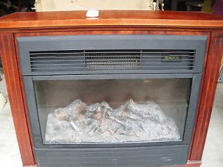 Heat Surge Amish Electric Fireplaces Roll and Glow Cherry Wood