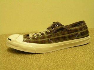 Size 14.5 CONVERSE GARMENT OX Jack Purcell Plaid Walking Shoe NIB