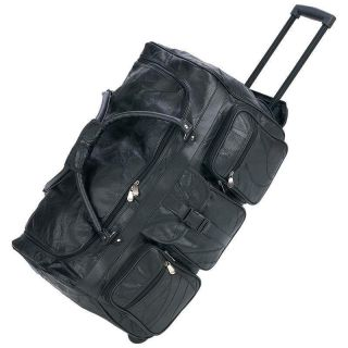 Wheeled, Rolling Leather Duffel Bag NEW, TOTE, Carry On, Duffle NEW