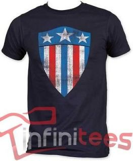 New Licensed Captain America First Shield Marvel Adult T Shirt S M L