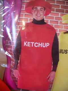 MEN WOMEN ADULT HALLOWEEN COSTUME KETCHUP CATSUP BOTTLE ONE SIZE OSFM