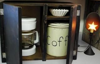 Early Primitive Coffee Maker Cupboard Cover Cabinet Kitchen Farmhouse