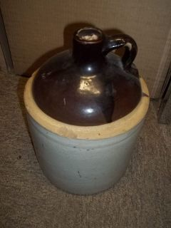 Vintage Used 1 Gallon Crock Jug good for decor
