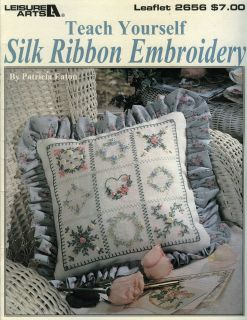 LEISURE ARTS TEACH YOURSELF SILK RIBBON EMBROIDERY PATTERN LEAFLET