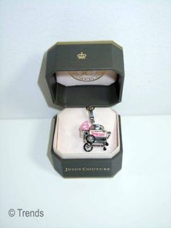 NIB Juicy Couture Cotton Candy Machine Charm pink Silver New NWT