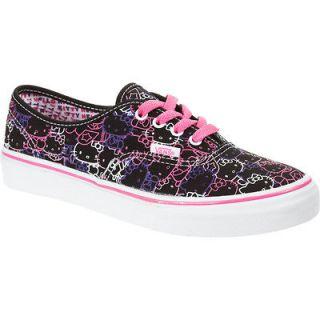 Vans Hello Kitty Authentic Kids VN 0QKN66Y Black Purple Original Brand