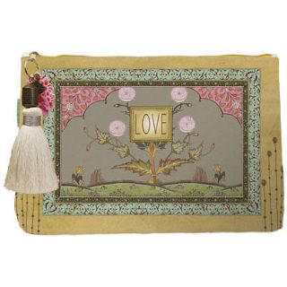 Cosmetic Bag Love Feather .Papaya Large Accesory Bags. Cool Travel Bag