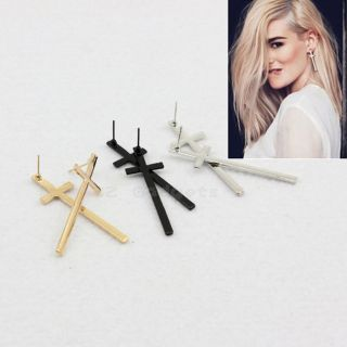Fashion Vintage Punk Style The Cross Ear Stud HipHop Inspired Earrings