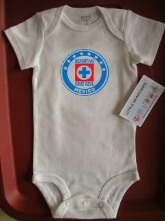 Deportivo Cruz Azul Soccer Baby Onesie