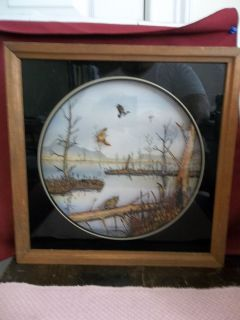 REVERSE PAINTING ON GLASS ARTIST SIGNED TOM CRYER