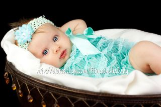 Pick ONE 3set Baby Girl Lace Posh Petti Ruffle Romper hair bow